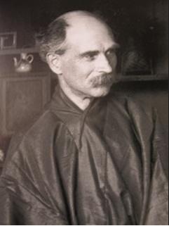 Portrait in Schwarzweiß von dem Kunstkenner Samuel Bing