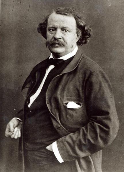 Schwarzweiß-Portrait des Fotografen Nadar, Paris, um 1860